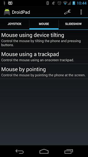 DroidPad: PC Joystick mouse