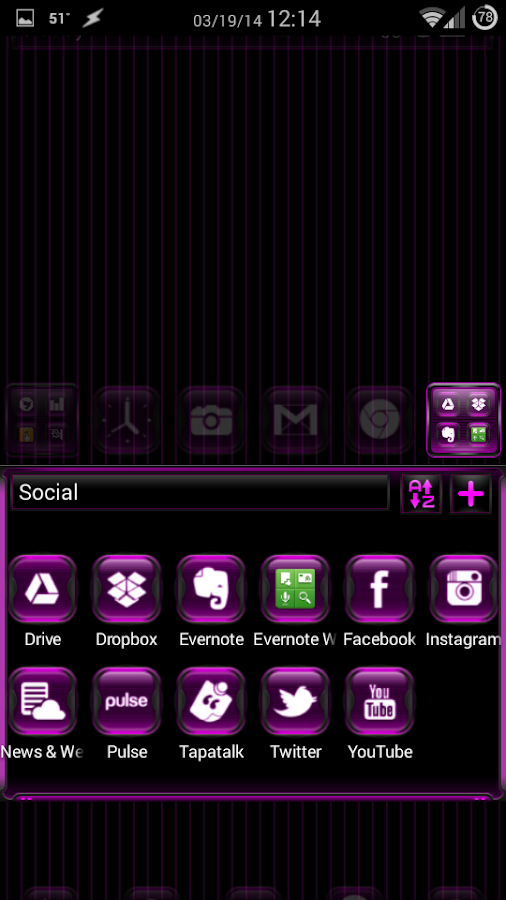 Kosmic Theme Go Launcher EX - screenshot