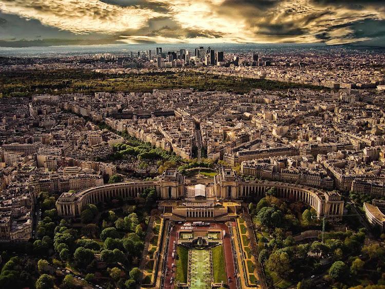 A spectacular aerial view of Paris.