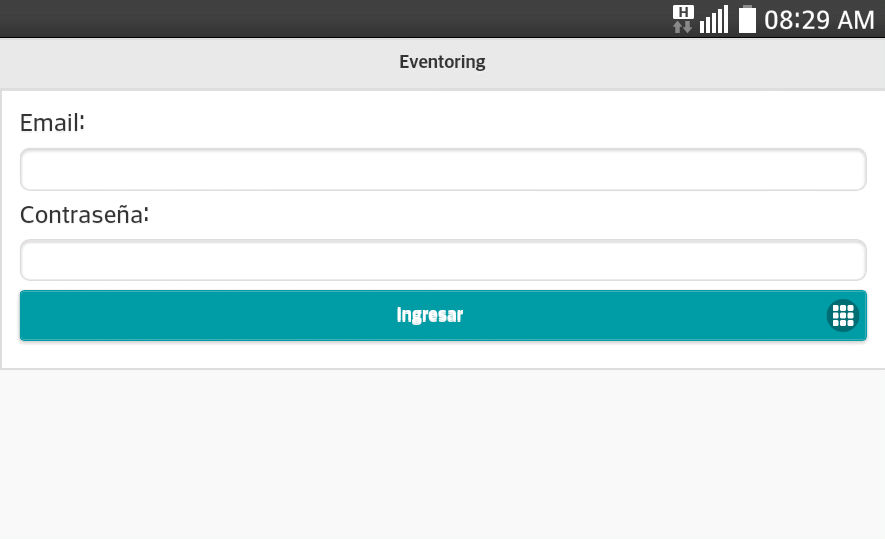 Eventoring- screenshot
