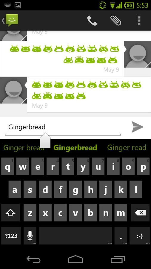Green CM11 AOKP Theme - screenshot