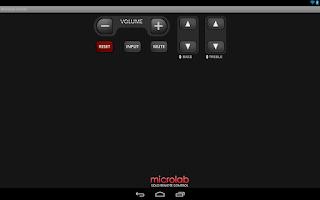 Screenshot of Microlab SOLO remote control