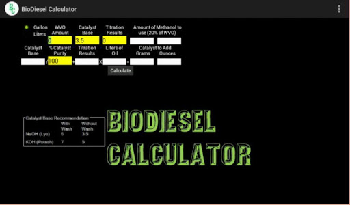 玩工具App|BioDiesel Calculator 2.0 Paid免費|APP試玩