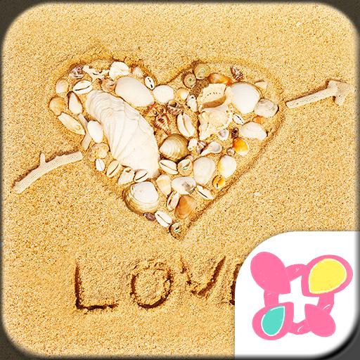 白色爱心海滨 for[+]HOME 個人化 App LOGO-APP試玩
