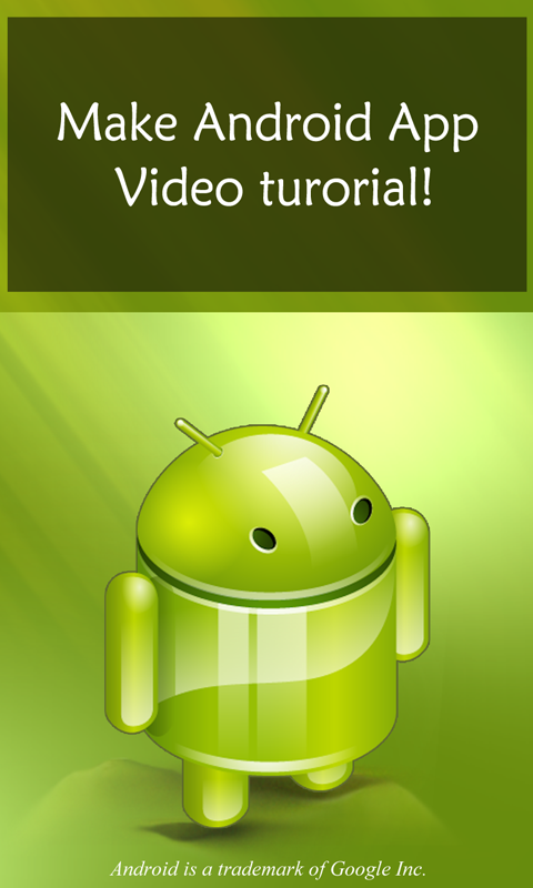 Make Android App Tutorial Android Apps On Google Play