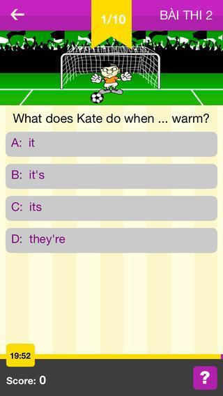 IOE - App Luyện thi Tiếng Anh - screenshot