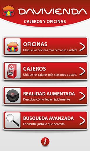 Aplicación Davivienda iphone android sucursales