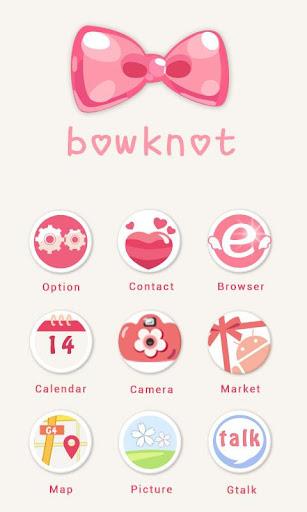 360手機桌面主題-bowknot