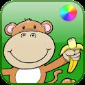 Jungle Animals Coloring Book logo