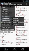 Screenshot of GuitarTapp PRO - Tabs & Chords