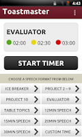 Screenshot of Toastmaster Timer