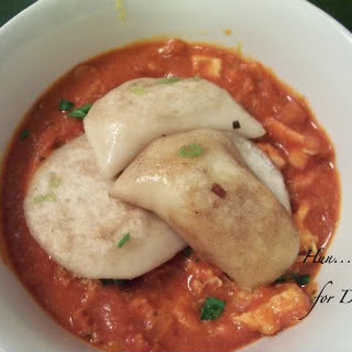 Paprika Chicken Stew with Potato Pierogies