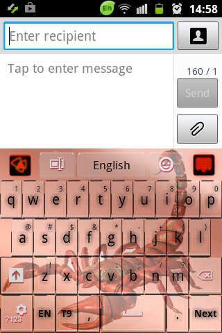 GO Keyboard Red Black Scorpion