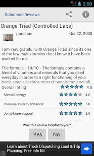 Supplement Reviews for Android- screenshot thumbnail