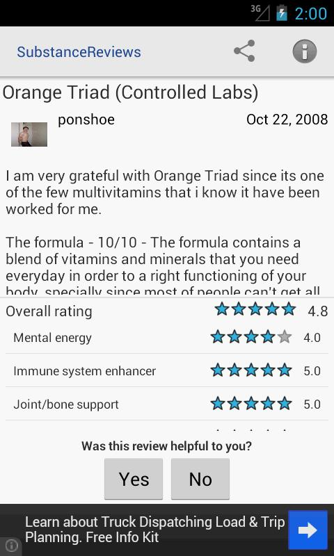 Supplement Reviews for Android- screenshot