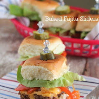 Baked Fajita Sliders.