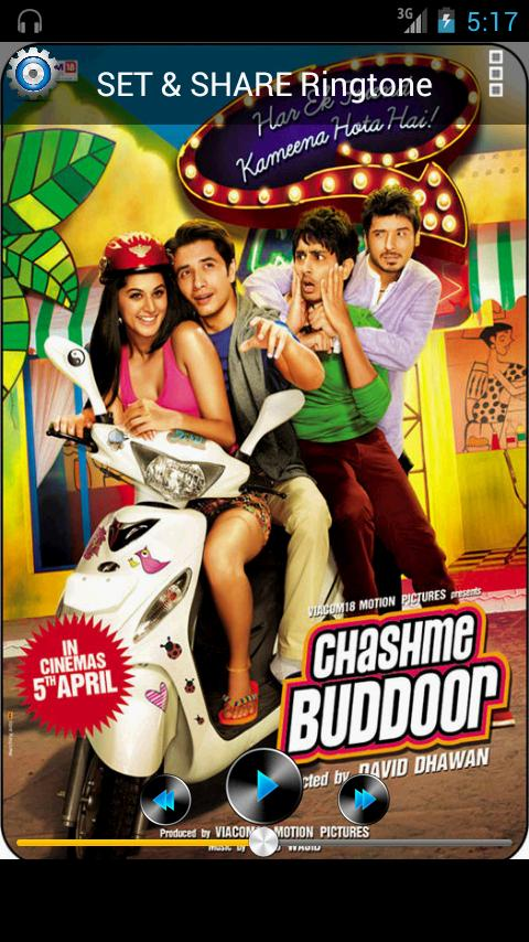Chashme Baddoor Ringtone - screenshot