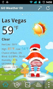 Christmas Dynamics GOWeatherEX - screenshot thumbnail