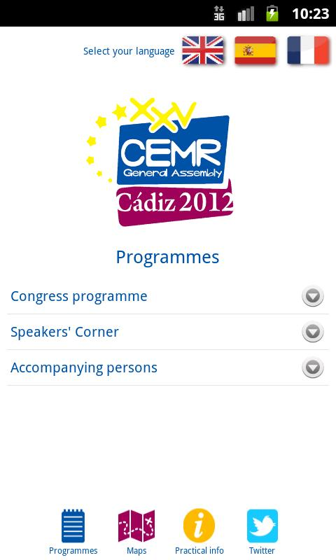 CEMR 2012 - screenshot