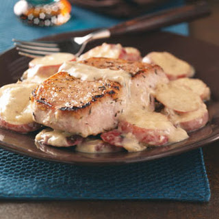 Pork Chops & Potatoes in Mushroom Sauce Recipe.