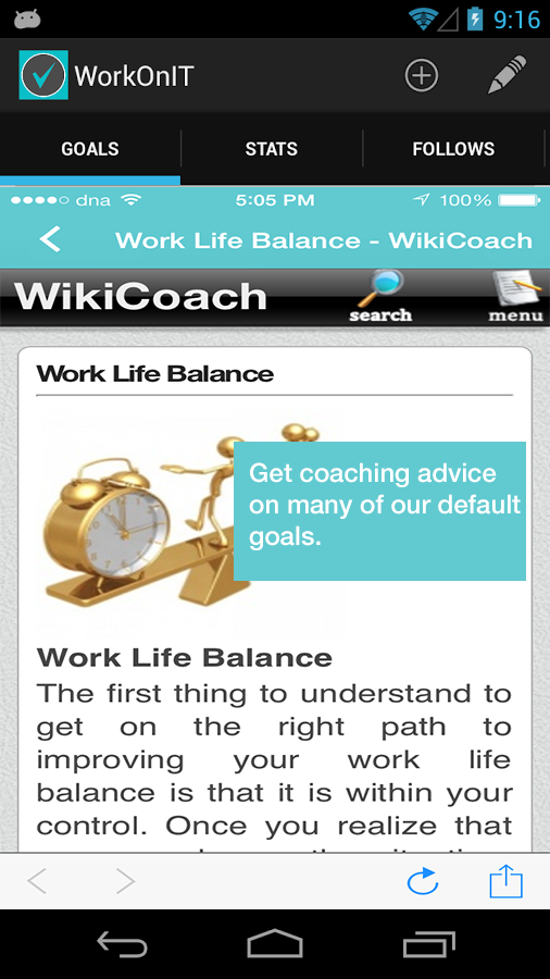 WorkOnIT - Personal Life Coach - screenshot