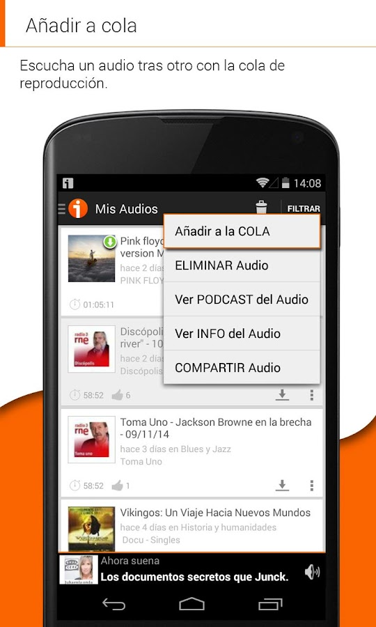 iVoox Podcast - screenshot