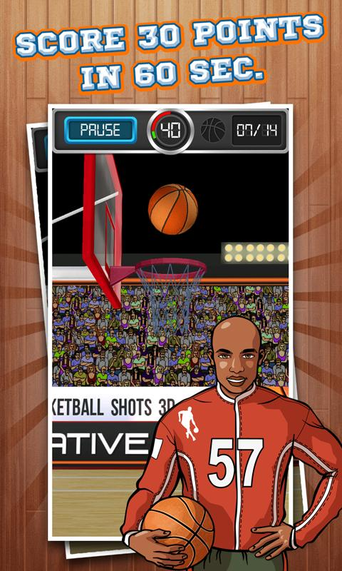 Basketball Shots 3D (2013)- screenshot