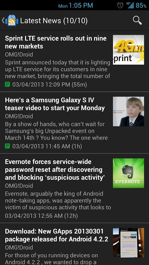 OMG!Droid - screenshot