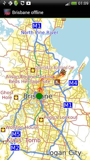 Brisbane offline map
