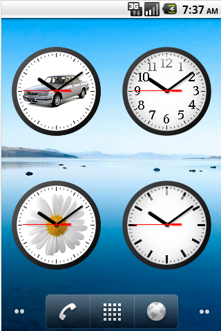 analog clock widget 7 android apps on google play. Black Bedroom Furniture Sets. Home Design Ideas