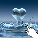 Magic touch:Heart water splash logo