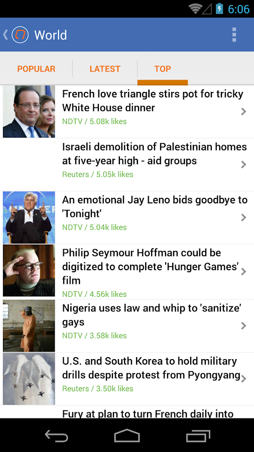 NewsCo: News Summaries - screenshot