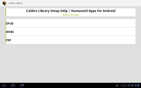 Calibre Library - screenshot thumbnail