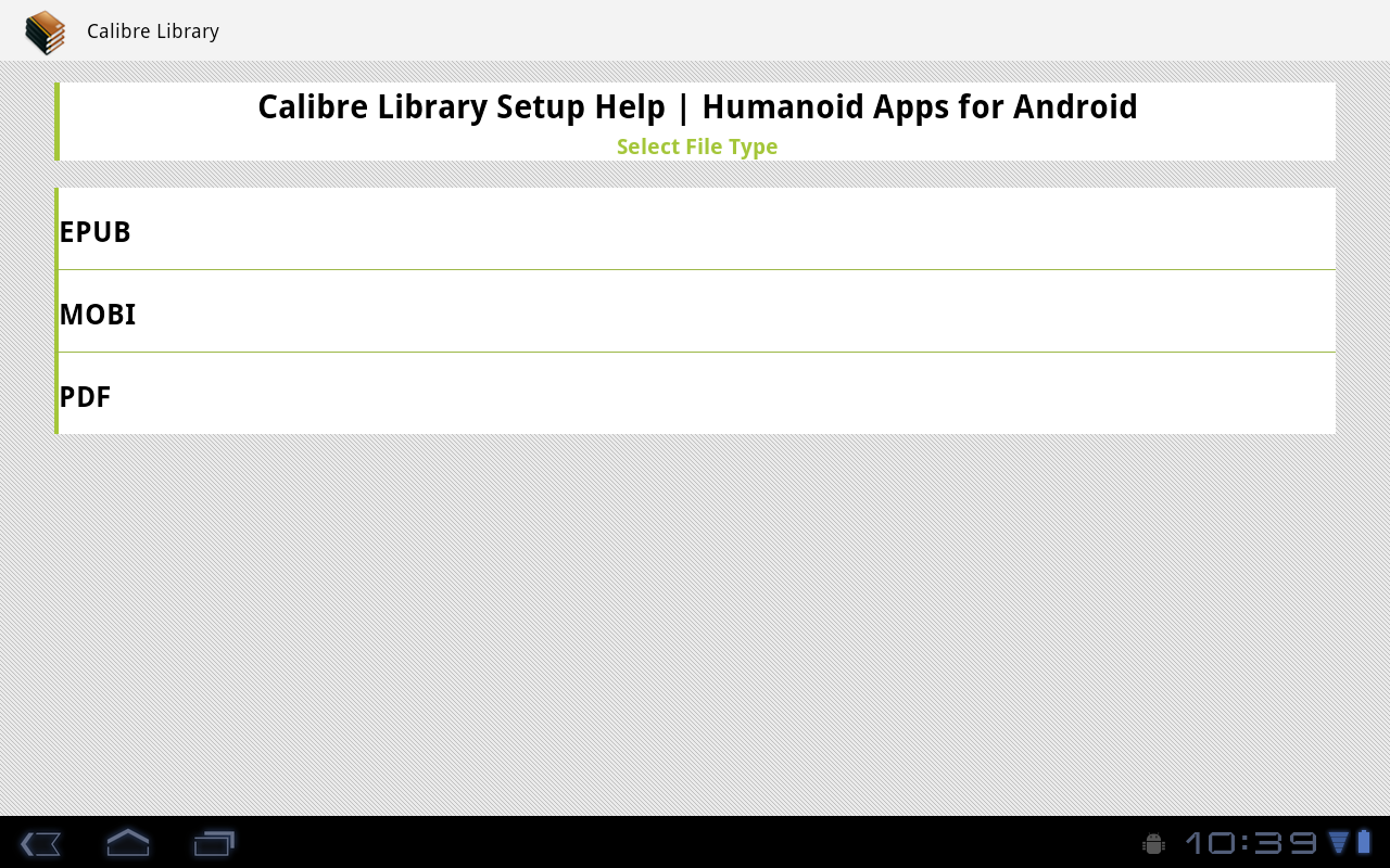 Calibre Library- screenshot