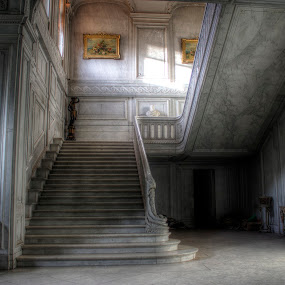 Staircase to heaven by Greg Warnitz  - Buildings & Architecture Architectural Detail ( amazing, urban, foret, house, abandoned )