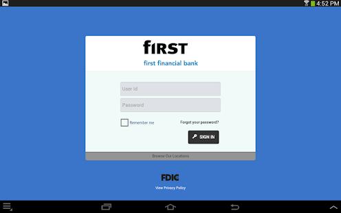First Financial Bank - Mobile - screenshot thumbnail