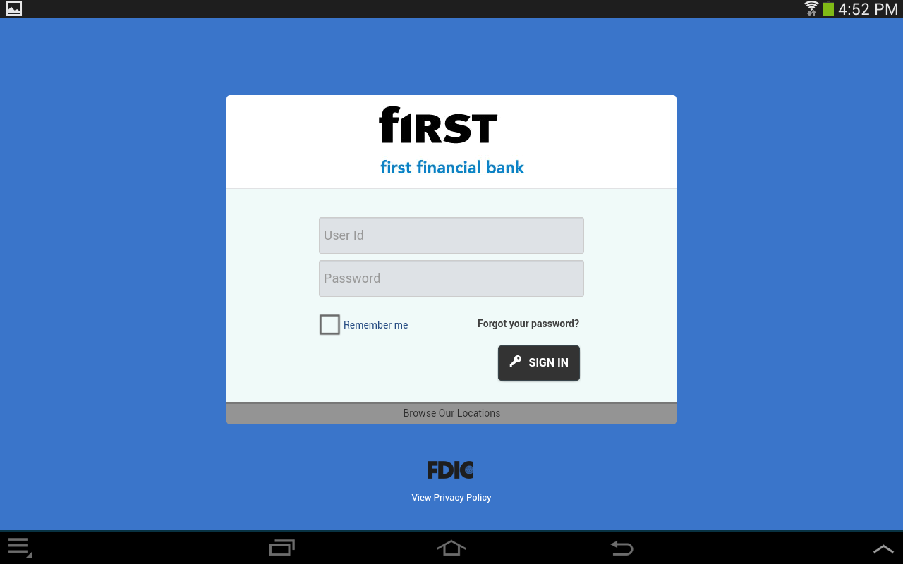 First Financial Bank - Mobile - screenshot