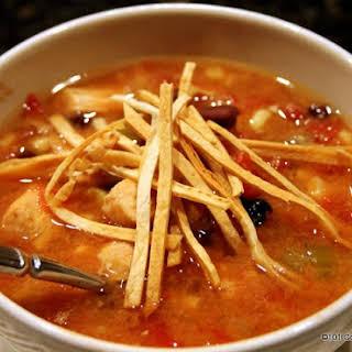 Crock Pot Chicken Tortilla Soup.