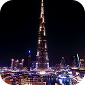 Night Dubai Timelapse LWP