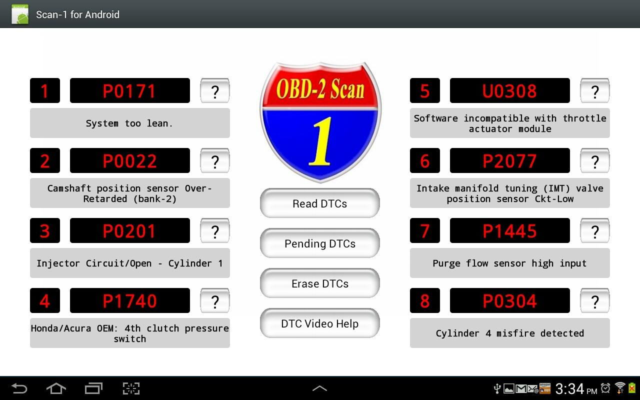 Scan-1 4 Android Demo- screenshot