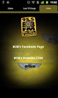 Screenshot of 95.5 BOB-FM 80's, 90's