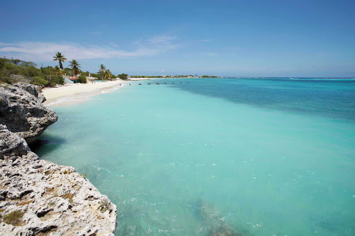 beach-rocks-Aruba - Miles of beaches await on Aruba.