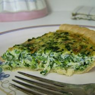 Spinach Quiche with Kid Appeal.