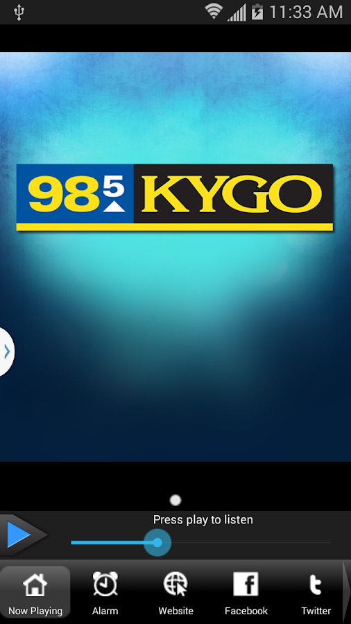 KYGO-FM Denver - screenshot
