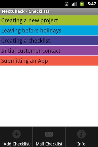 NextCheck- screenshot