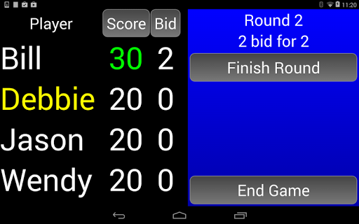 WIZARD Score Pad