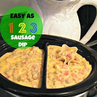 Easy as 123 Sausage Dip.