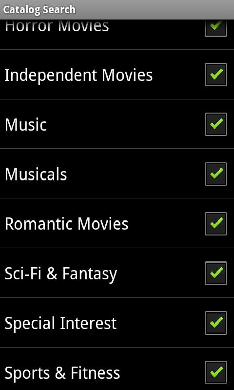 Catalog Search For Netflix Old - screenshot