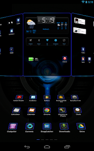 Next Launcher 3D Black n Black- screenshot thumbnail