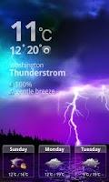 Screenshot of MXHome Theme Weather